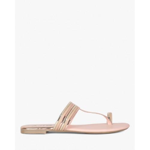 e2c86034e8f Buy AJIO Textured Toe-Ring Flat Sandals online