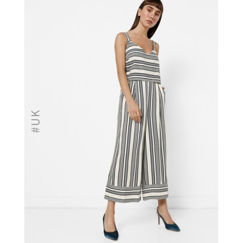Buy Native Multi Colour Polyester Strappy Popover Striped Jumpsuit