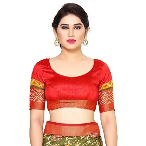 MIMOSA Tassar Silk Saree With Blouse Piece(4126-Saln-4-Olv-Mrn_Olive Free Size)