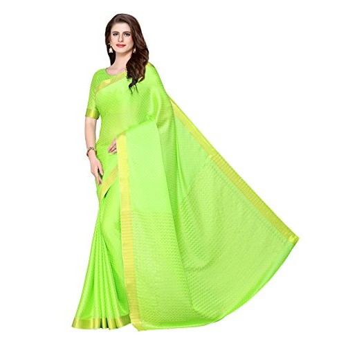 Mimosa Kanjivaram Style Crepe saree Color Green (4222-2097-SD-LT-LIRIL)