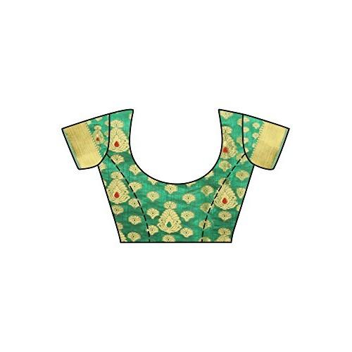 Mimosa Women's Silk Saree With Blouse Piece (4111-180-Sd-Bgrn_Green)