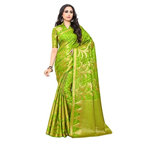 Mimosa By Kupinda Kuppdam Style Art Silk saree color: Green ( 4178-247-SD-OLIVE )