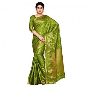 e5514f5bed1 Mimosa Art Silk Saree With Blouse Piece(4108-292-Sd-Olv Green Free