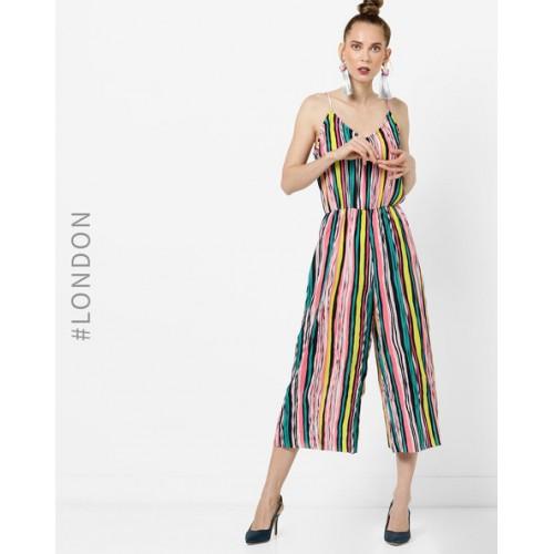 3a039b3d0a6 Glamorous MultiColour Polyester Striped Strappy Jumpsuit  Glamorous  MultiColour Polyester Striped Strappy Jumpsuit ...