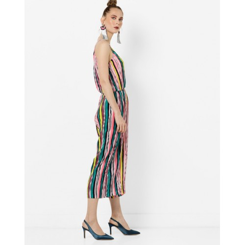 564c24f7a93 Buy Glamorous MultiColour Polyester Striped Strappy Jumpsuit online ...