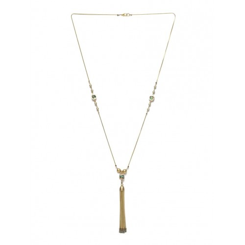 Diva Walk Golden Metal Long necklace