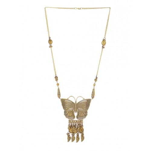 DIVA WALK Gold-Toned Brass Handcrafted Necklace