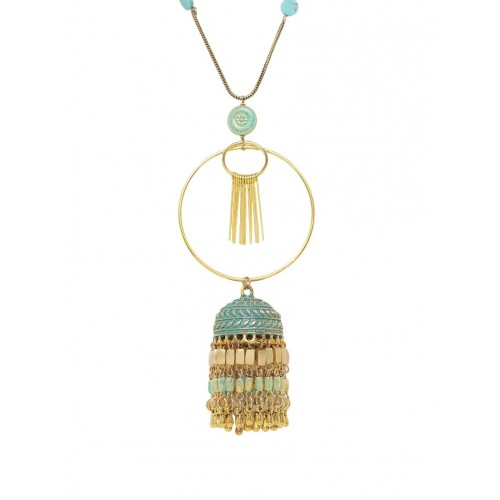 Diva Walk Golden Metal Long necklace