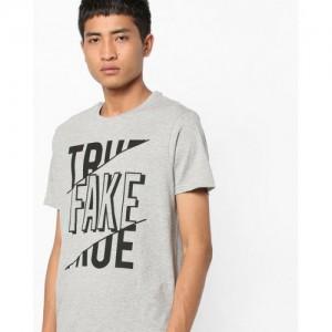 AJIO Typographic Print T-shirt