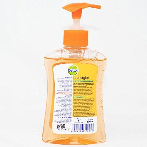 Dettol Liquid Handwash Soap Pump Re-energize 250 ml