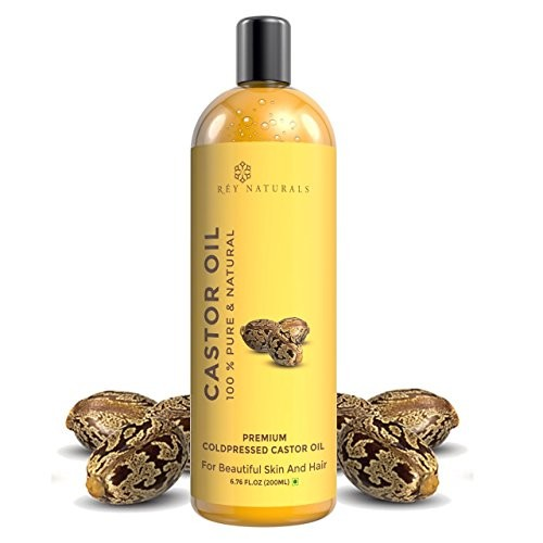 Rey Naturals 100% Pure & Natural Cold Pressed Castor Oil