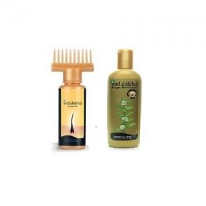 Indulekha Bringha Hair Oil 100 Ml And Hair Cleanser 200 Ml