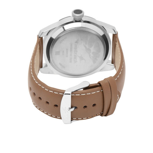 Fastrack NG3099SL01 Brown Round Leather Analog Watch