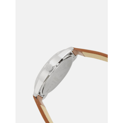 Fastrack Men Silver-Toned Solid Analogue Watch NK3123SL02