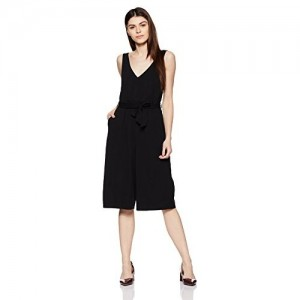 ONLY Black Polyester Casual Regular Fit Jumpsuit