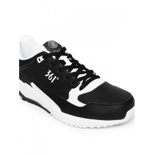 361 Degree Black Active Running Shoes