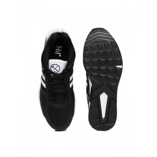 361 Degree Black Running Shoes