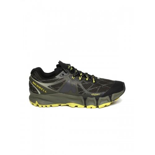 f545c81ebce9a7 Buy Merrell Men Olive Green Agility Peak Flex Running Shoes online ...