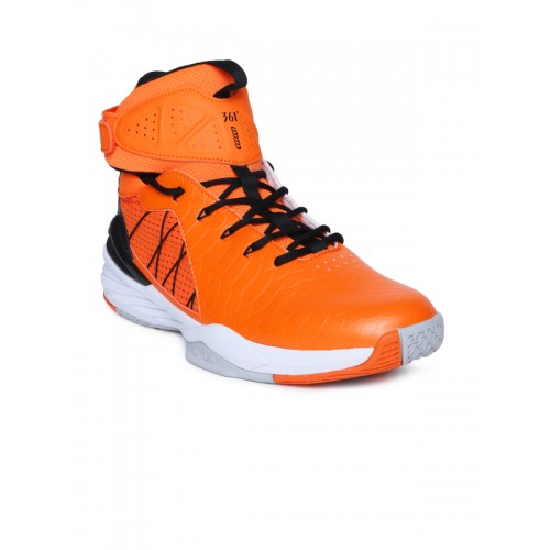 a61682230ce Buy 361 Degree Men Orange Synthetic Mid-Top Basketball Shoes online ...