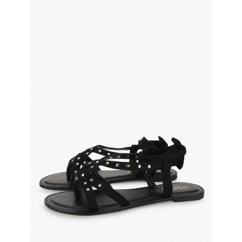 a87856017ce Buy KOOVS Leg Tie Flat Sandals online