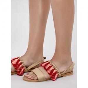 5f7e149f1d Women's Sandals On Koovs, Paytmmall (5 items). CAi Tassel Detail Flat  Sandals
