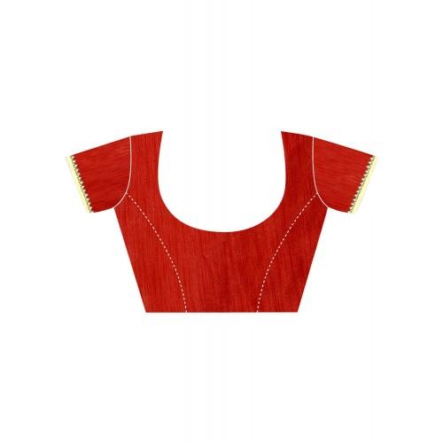 Aaradhya Fashion maroon georgette bandhani saree with blouse