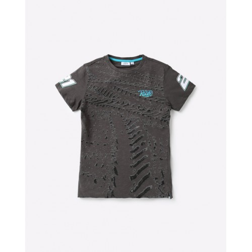 OVS Printed Crew-Neck T-shirt with Vented Hems