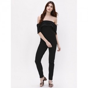 92f11b376dde Catwalk88 Black Cotton Off Shoulder Jumpsuit