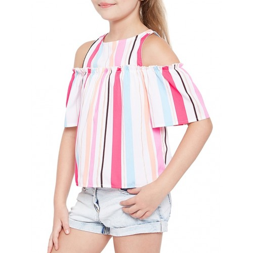 oxolloxo multi colored polyester top