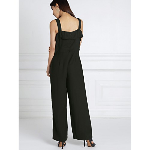 all about you from Deepika Padukone Black Solid Basic Jumpsuit