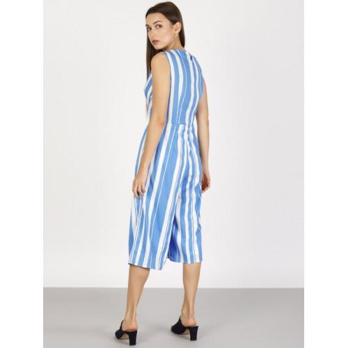 fa436b25e51 Buy ether Blue   White Striped Culotte Jumpsuit online