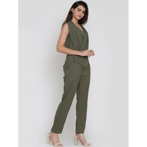 ae23e2dad5b Buy Eavan Olive Solid Jumpsuit online