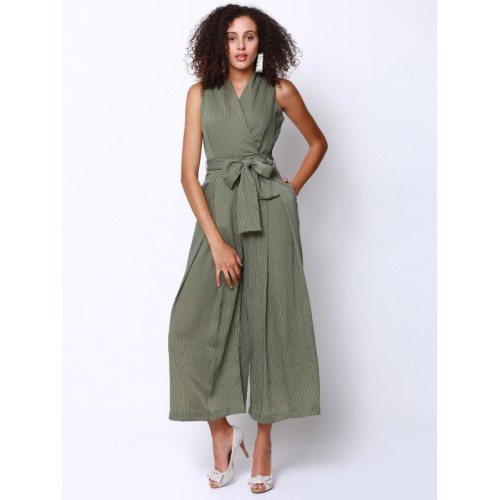 40044a87f5a5 Buy Tokyo Talkies Olive Green Printed Basic Jumpsuit online ...