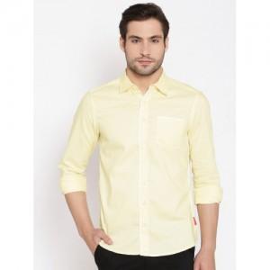 American Swan Yellow Smart Fit Casual Shirt