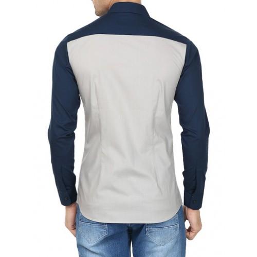 Catchy Bird grey cotton casual shirt