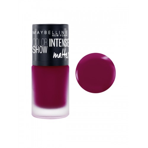 Maybelline New York Color Show Passionate Plum Intense Matte Nail Paint M404