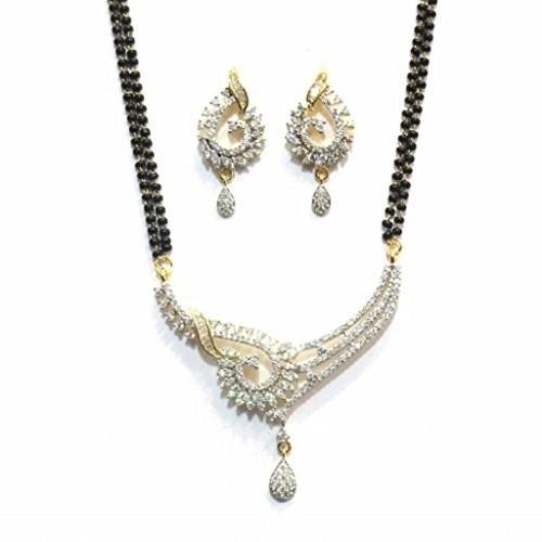 4bcd140f2 Jewelshingar Jewellery American Diamond Mangalsutra; Jewelshingar Jewellery American  Diamond Mangalsutra ...