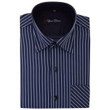 Your Desire Shirts Men Cotton Dark Blue and Black Formal Shirt
