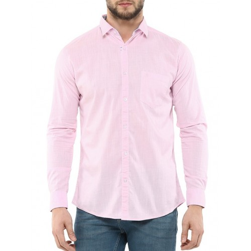 SPEAK pink cotton casual shirt