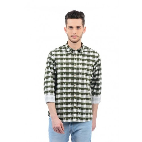 Pepe Jeans Olive Full Sleeves Shirt