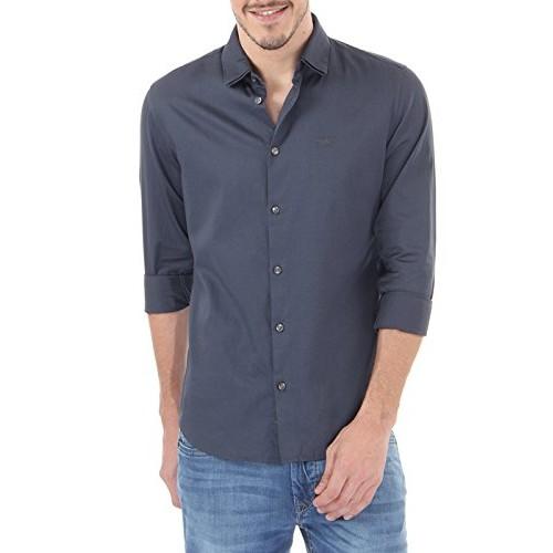 Flying Machine Men's Solid Regular Fit Casual Shirt