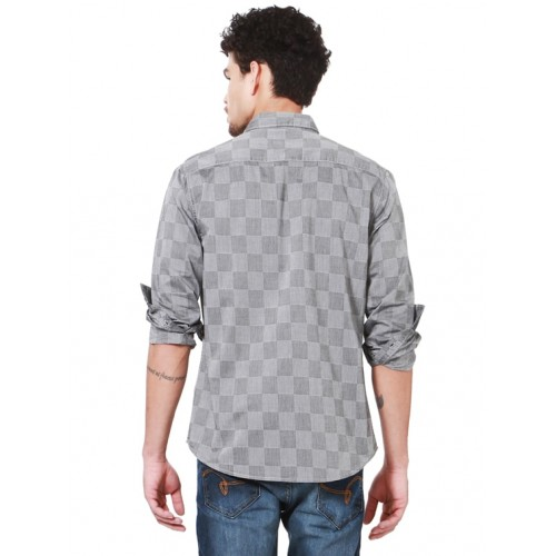 People grey cotton casual shirt