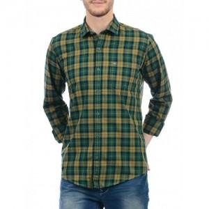 Monte Carlo green cotton casual shirt