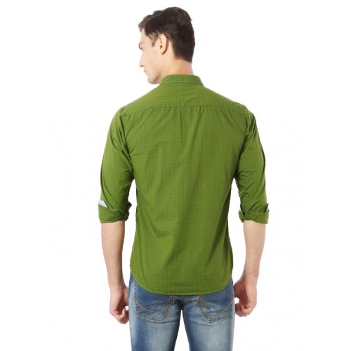 Allen Solly green cotton casual shirt