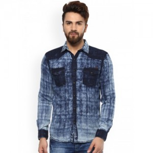 3edc2085a73 Buy latest Men s Denim Shirts from Mufti online in India - Top ...