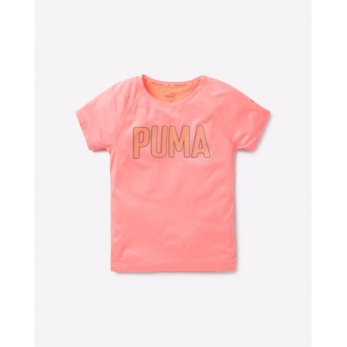 Puma Typographic Print T-shirt with Raglan Sleeves