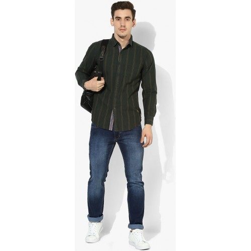 27805e568a ... Red Chief Green Full Sleeves Casual Regular Fit Shirts (8110321 025) ...