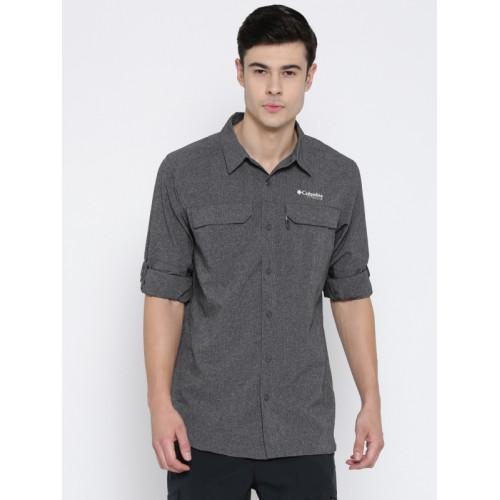 bf216f34de1 ... Columbia Men Grey Irico Long Sleeve Self-Design Outdoor Shirt ...