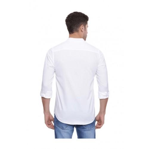 Peter England White Slim Fit Shirt