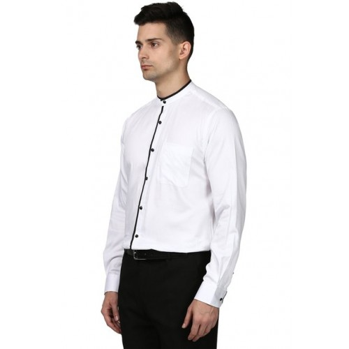 3394735022f Buy Raymond White Band Collar Contemporary Fit Shirt online ...